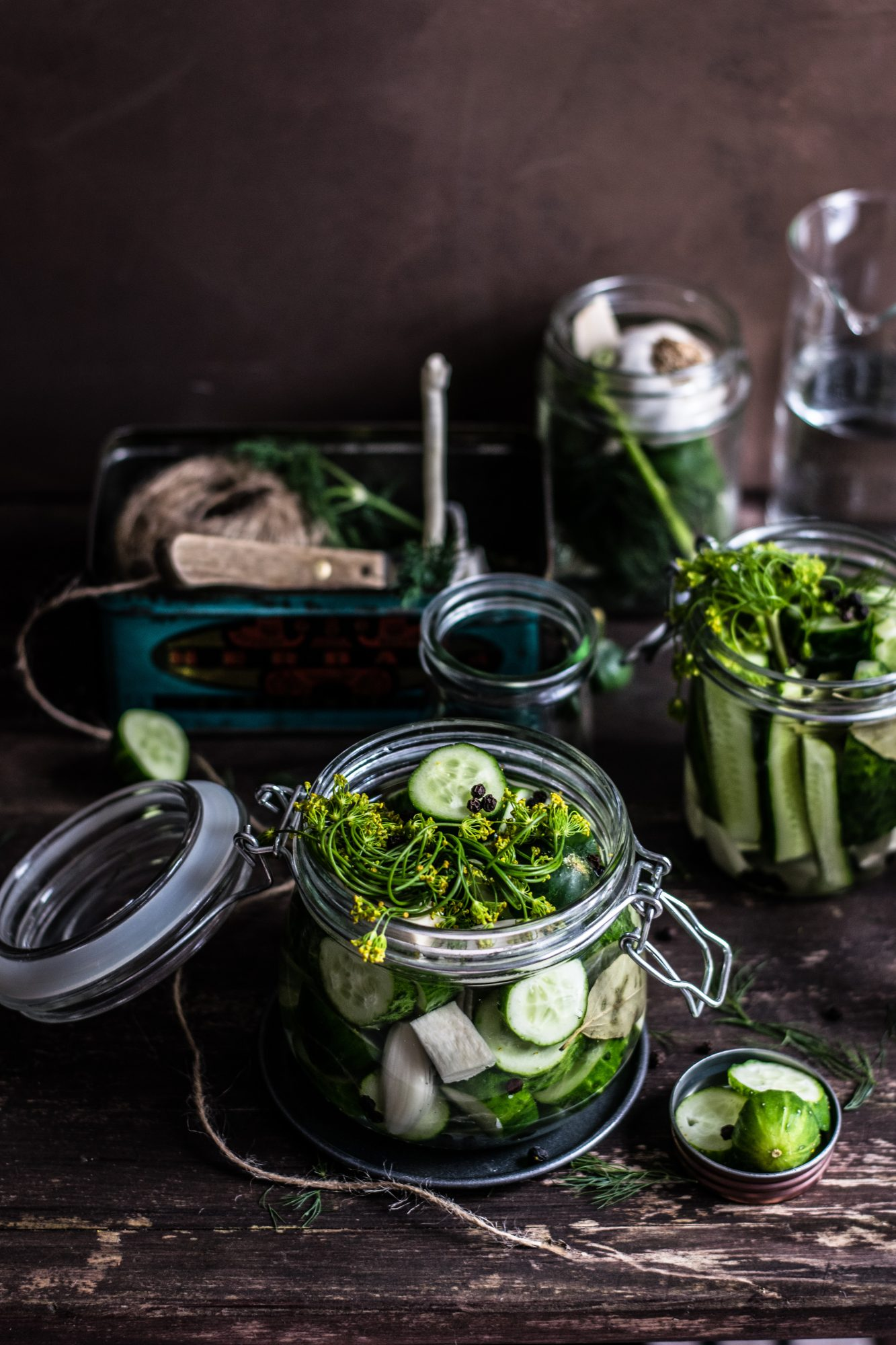 Fiery Ferments: Spicy Dilly Pickles
